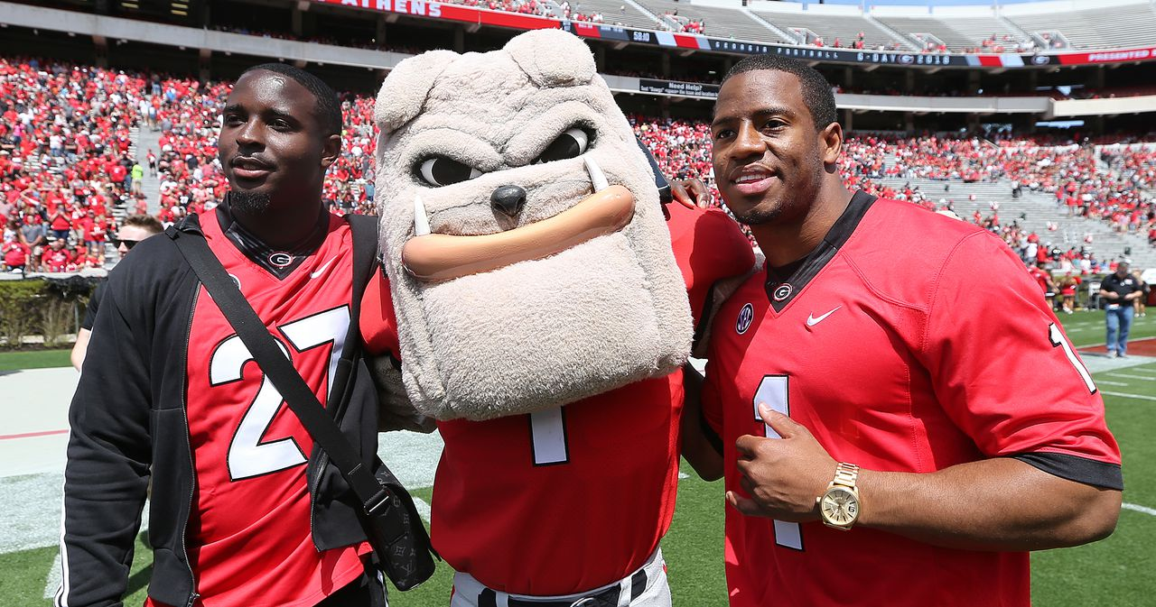 Nick Chubb explains viral jersey swap moment with Sony Michel on G-Day