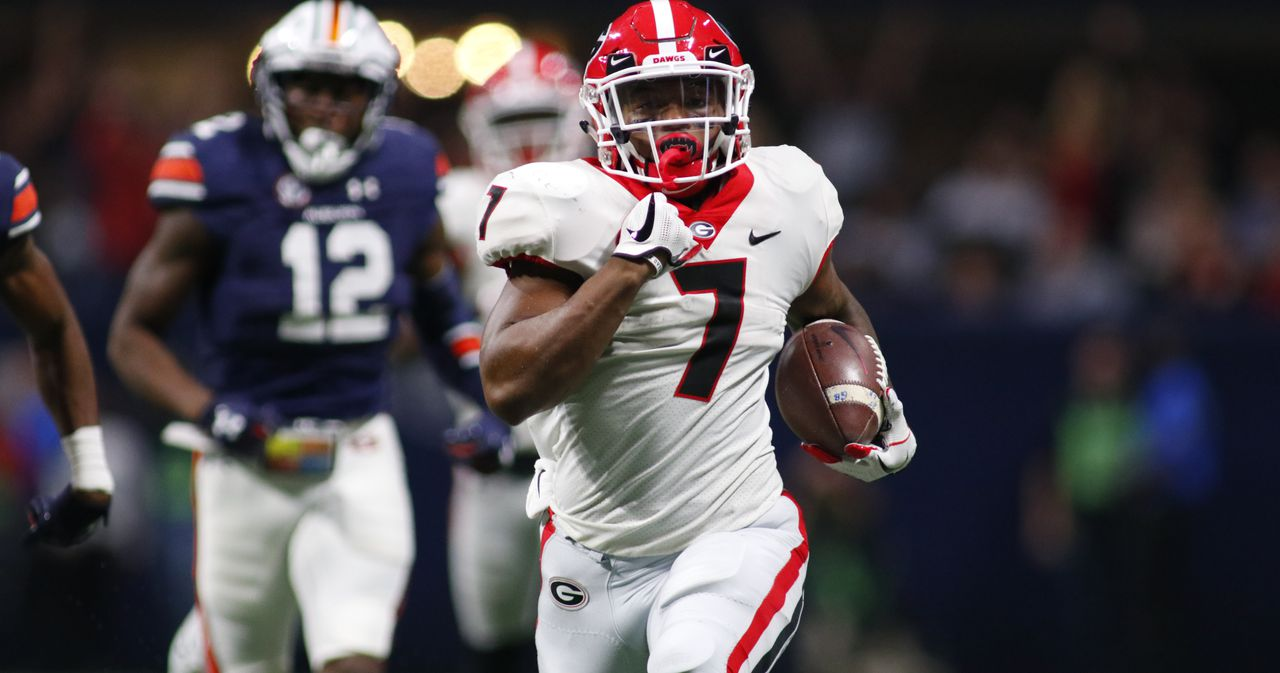 georgia football-UGA-fastest man-d'andre swift