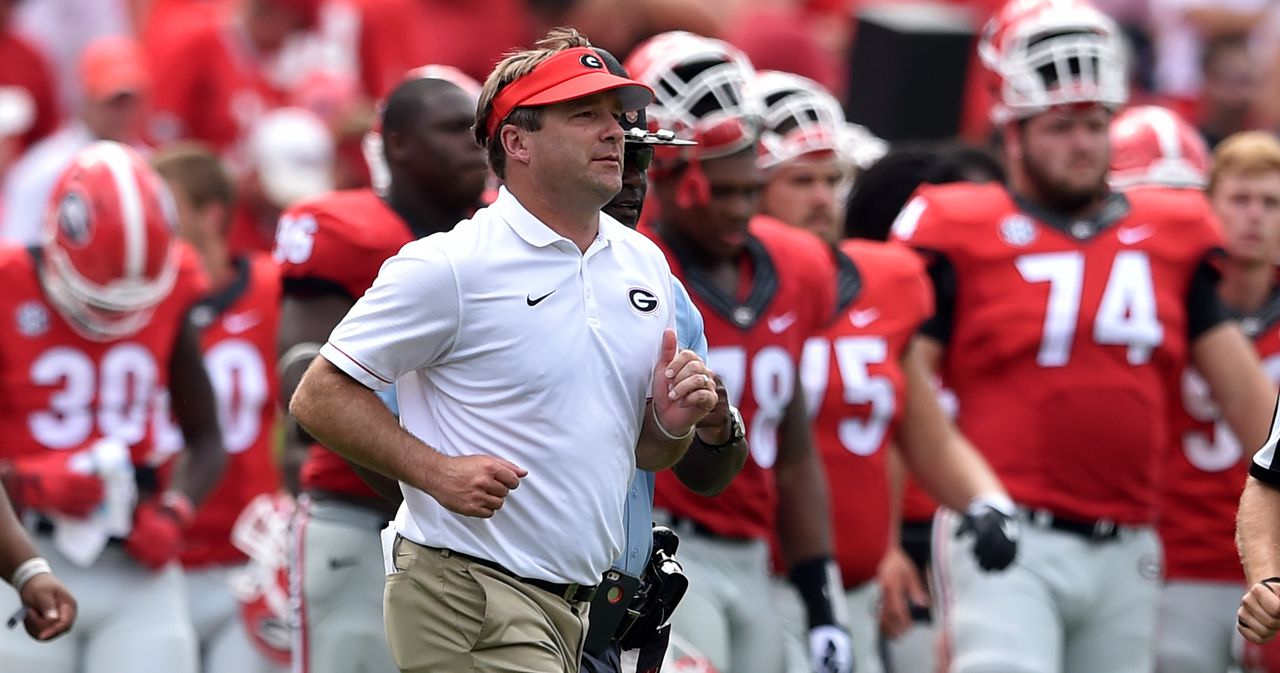 Georgia football-head coach-kirby smart-support staff spending-running back-rankings