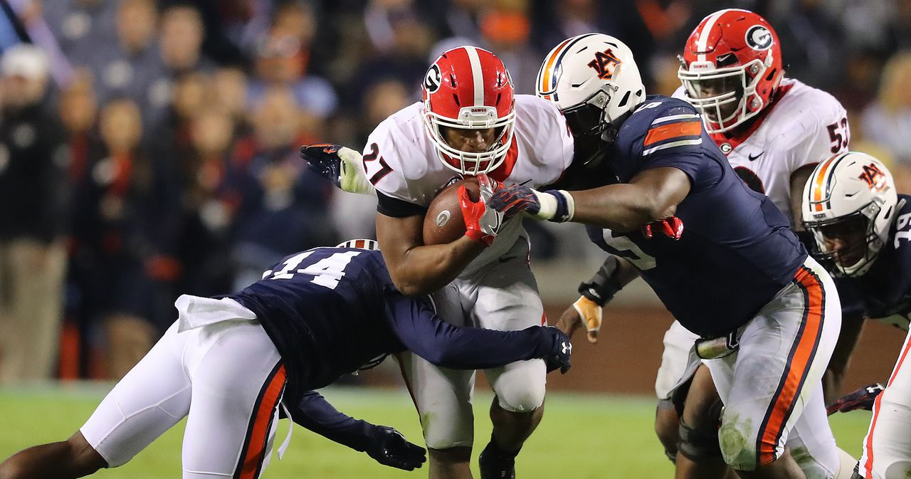Nick Chubb-UGA football-Auburn-SEC championship-rematch